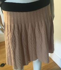 Marc By Marc Jacobs Wool Blend Skirt-Size Small Camel with Black Band