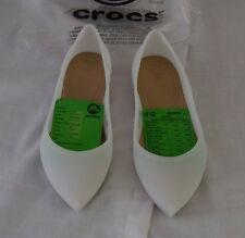 Croc Rio Flat Size 7 White Jelly Slip On Pointed Toe New