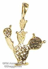 Cactus Charm south western Pendant EP Gold Plated with a Lifetime Guarantee!