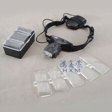 Head Band Magnifying Glass Loupe LED Visor Surgical Dental Magnifier Lupa 1X~6X