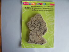 STAMPENDOUS RUBBER STAMPS CLING FAIRY FLOWER STAMP