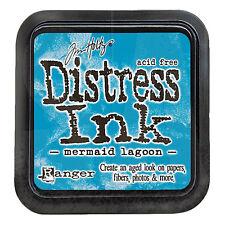 Tim Holtz Distress Ink Pad Full Size MERMAID LAGOON Blue Aqua