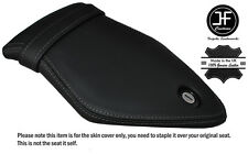 GREY DOUBLE STITCH CUSTOM FITS BMW S 1000 RR 15-16 REAR LEATHER SEAT COVER