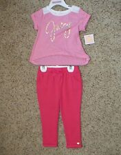 Juicy Couture Toddler Girls 2 Piece Legging Set Size 4T NWT