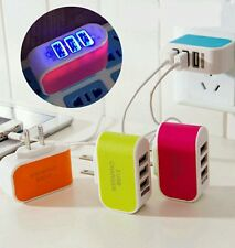 Lot:20pcs:5V 3.1A Triple USB 3 Port Wall USB Charger Adapter for iPhone Samsung