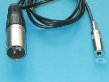 """2Ft 3.5mm 1/8"""" Female to 3 Pin XLR Male Audio Mixer Stereo Micphone Cable"""