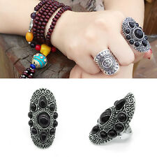 Women Boho Carved Flower Gypsy Fashion Tribal Wrap Knuckle Finger Ring