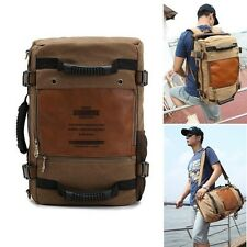 Men's Vintage Canvas Outdoor Travel Hiking Backpack Rucksack Shoulder Laptop Bag