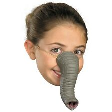Gray Elephant Tusk Nose Rubber Latex Mask Dress Up Childs Adult Fake Snout NEW
