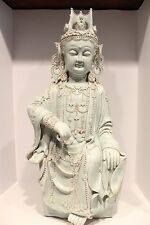 Beautiful Large Rare Taiwanese Porcelain Ocean Kwan Yin from 1950 31""