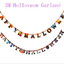 """Happy Halloween"" 118inch DIY Colorful Hanging Paper Garland Decoration Props FT"