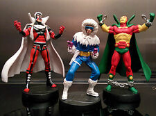 Three Eaglemoss figures - Captain Cold - Brother Blood - Mr. Miracle (all boxed)