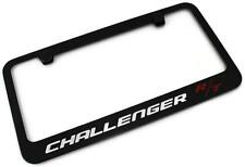 DODGE CHALLENGER R/T License Plate Frame Black Powder Coated Metal Engraved