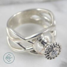 Sterling Silver | MARCUS MAX Crystal Interchangeable Bead 9.5g | Ring (8.5)