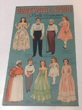 Uncut  GONE WITH THE WIND Paper Dolls & Costumes 1940  Merrill Publishing