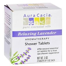 Aura Cacia Aromatherapy Shower Tablets, Relaxing Lavender 3 ea (Pack of 2)