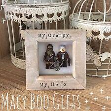 Personalised Gift Present Lego Frame Superhero Dad Grandad Han Solo Chewbacca