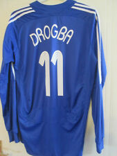 Chelsea 2007-2008 Drogba 11 CL Home LS Football Shirt Size large /35416