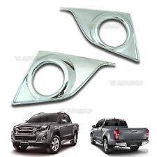 CHROME FOG LAMP SPOT LIGHT COVER TRIM Fit ISUZU NEW D-MAX 1.9L V-CROSS 2016 4X4