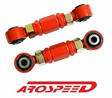 RED RACING REAR ADJUSTABLE TOE ROD ARMS KIT FOR 92-95 HONDA CIVIC EG