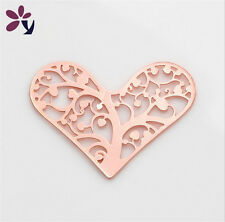 28mm Lucky Tree Rose Gold Heart for glass Living Memory Locket Floating charm!