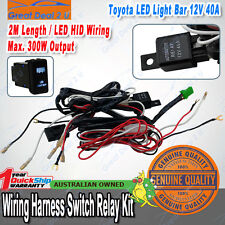 40A 12V TOYOTA LANDCRUISER LED Light Bar Wiring Loom Harness Switch Relay Kit