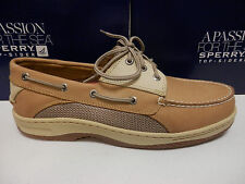 SPERRY TOP SIDER MENS BOAT SHOE BILLFISH 3-EYE TAN BEIGE SIZE 13 Wide
