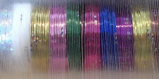 10 ROLLS OF NAIL ART STRIPING TAPE -MIXED COL. UK SELLER-1ST CLASS POST