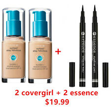 TWO Covergirl Outlast  3 in 1 Foundation 805 IVORY + TWO Essence EYELINER Black