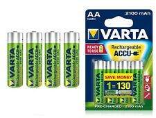 8 X RECHARGEABLE BATTERIES VARTA R6 AA 2100 mAh TOP
