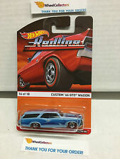 Custom '66 GTO Wagon #16 Blue * REDLINE * Hot Wheels 2016 Heritage Case F * W10