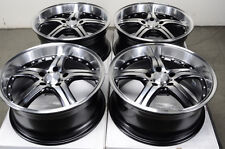 17 5x120 Black Wheels Fits BMW 323 325 z3 318 328 Polished Deep Dish 5 Lug Rims