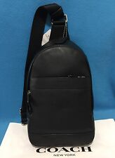 NEW COACH MEN'S LEATHER CHARLES PACK SLING/BACKPACK BLACK F54770 $350