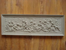 coincé Plaque de motif Ange am Weinberg,62 x 20 cm de Béton pour à l'extérieur