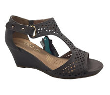 Ladies Shoes Wedges SOA Perez Black White Navy or Mushro Size 6-10 Wedge Sandals