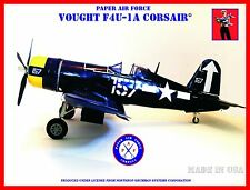 Paper Air Force F4U-1A Corsair Model Kit - New Kit!