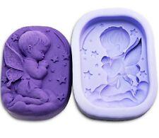 Angel Pray Boy Oval Craft Art Bakeware Soap Mold Silicone Handmade Soap DIY mold