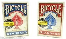 Pair of Blue & Red 808 Rider Std. Deck Bicycle Playing Cards Poker Size USPCC