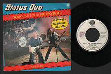 """7"""" STATUS QUO WHAT ARE YOU PROPOSING / A B BLUES VERTIGO ITALY PROMO PUNCHED"""
