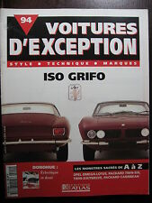 FASCICULE 94  VOITURE EXCEPTION ISO GRIFO DONOHUE OPEL OMEGA PACKARD DIVERSES
