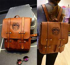 BTS Unisex Backpack PU Leather School Bag Messager Bag Bangtan Boys Jungkook V