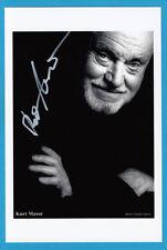 Kurt Masur-ópera/Música clásica-director - # 12637