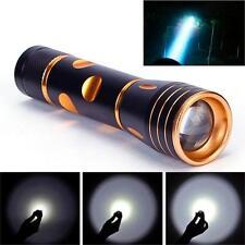 3000 Lumen CREE XML T6 LED 18650 Lampe de poche 3 Modes Haute performance Dorée