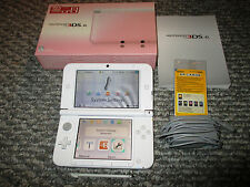 Nintendo 3DS XL Pink & White System Console in Box w/Charger FREE Shipping!