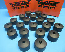 Brand New Set 20 Wheel Nut Covers Replaces Volkswagen OEM# 6116441 BLACK Push On