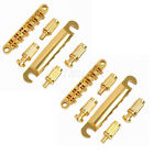 2 Gold Tune-O-Matic Electric Guitar ABR-1 Bridge Stop Bar For Gibson Les Paul LP