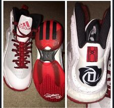 Derrick Rose Basketball Shoes Youth Boys White Adidas 4.5