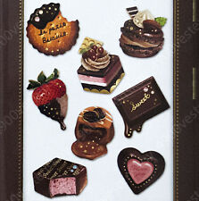 Japan Moca Porte chocolate cake sweet candy macaroon dessert sticker 1pack=64pc
