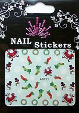 Christmas, Water Nail Sticker Tatoo, Weihnachten , AS033