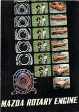 Mazda Rotary Engine 1971-72 UK & USA Market Sales Brochure RX-2 RX-3